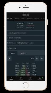 Bitfinex exchange: iOS app