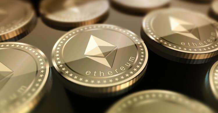 Een aantal Ether munten